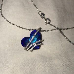 "Blue Heart ""Love"" Necklace"